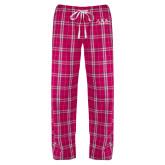 Ladies Dark Fuchsia/White Flannel Pajama Pant-AXIOS Industrial Group