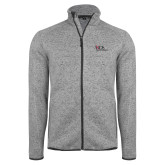 Grey Heather Fleece Jacket-AXIOS Industrial Maintenance