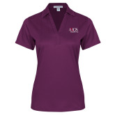 Ladies Purple Performance Fine Jacquard Polo-AXIOS Industrial Group