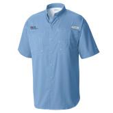 Columbia Tamiami Performance Light Blue Short Sleeve Shirt-AXIOS Industrial Maintenance