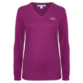Ladies Deep Berry V Neck Sweater-AXIOS Industrial Maintenance