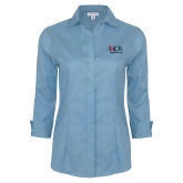 Ladies Red House Light Blue 3/4 Sleeve Shirt-AXIOS Industrial Group