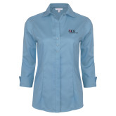Ladies Red House Light Blue 3/4 Sleeve Shirt-AXIOS Industrial Maintenance