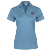 Ladies Light Blue Performance Fine Jacquard Polo-AXIOS Industrial Group