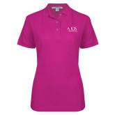 Ladies Easycare Tropical Pink Pique Polo-AXIOS Industrial Group