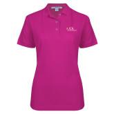 Ladies Easycare Tropical Pink Pique Polo-AXIOS Industrial Maintenance