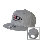 Heather Grey Wool Blend Flat Bill Snapback Hat-AXIOS Industrial Group