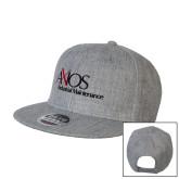 Heather Grey Wool Blend Flat Bill Snapback Hat-AXIOS Industrial Maintenance