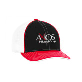 Black and Red Trucker Flexfit Hat-AXIOS Industrial Group