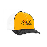 Gold and Black Trucker Flexfit Hat-AXIOS Industrial Group