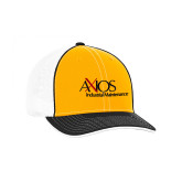 Gold and Black Trucker Flexfit Hat-AXIOS Industrial Maintenance