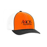Orange and Black Trucker Flexfit Hat-AXIOS Industrial Group