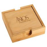 Bamboo Coaster Set-AXIOS Industrial Group Engraved