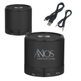 Wireless HD Bluetooth Black Round Speaker-AXIOS Industrial Group Engraved