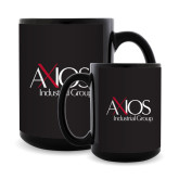Full Color Black Mug 15oz-AXIOS Industrial Group