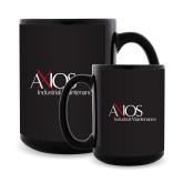 Full Color Black Mug 15oz-AXIOS Industrial Maintenance