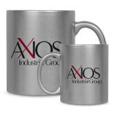 Full Color Silver Metallic Mug 11oz-AXIOS Industrial Group