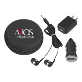 3 in 1 Black Audio Travel Kit-AXIOS Industrial Group
