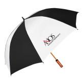 62 Inch Black/White Vented Umbrella-AXIOS Industrial Maintenance