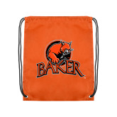 Orange Drawstring Backpack-Primary Mark
