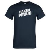 Navy T Shirt-Baker Proud