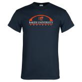 Navy T Shirt-Football Design