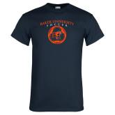 Navy T Shirt-Soccer Design