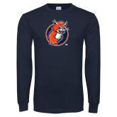 Navy Long Sleeve T Shirt-Youth Mark