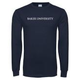Navy Long Sleeve T Shirt-Baker University