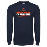 Navy Long Sleeve T Shirt-Baker Builds Champions