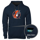 Contemporary Sofspun Navy Heather Hoodie-Youth Mark