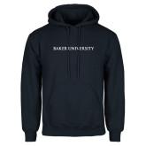 Navy Fleece Hoodie-Baker University