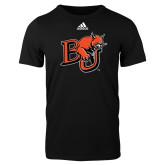 Adidas Black Logo T Shirt-BU Wildcat