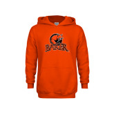 Youth Orange Fleece Hoodie-Primary Mark