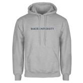 Grey Fleece Hoodie-Baker University