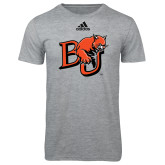 Adidas Sport Grey Logo T Shirt-BU Wildcat