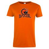 Ladies Orange T Shirt-Primary Mark