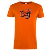 Ladies Orange T Shirt-BU Wildcat