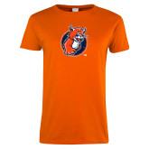 Ladies Orange T Shirt-Youth Mark