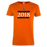 Ladies Orange T Shirt-Class Of Design