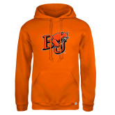 Russell DriPower Orange Fleece Hoodie-BU Wildcat