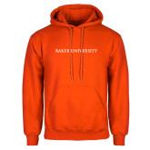 Orange Fleece Hoodie-Baker University