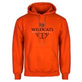 Orange Fleece Hoodie-Basketball Design