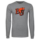 Grey Long Sleeve T Shirt-BU Wildcat
