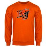 Orange Fleece Crew-BU Wildcat