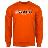 Orange Fleece Crew-Dad