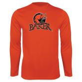 Performance Orange Longsleeve Shirt-Primary Mark