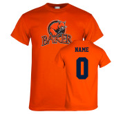 Orange T Shirt-Primary Mark, Personalized Name and #
