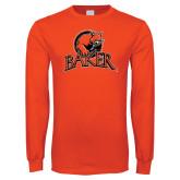 Orange Long Sleeve T Shirt-Primary Mark