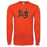 Orange Long Sleeve T Shirt-BU Wildcat